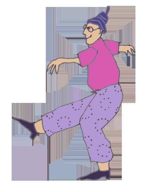 Frau tanzt, um sich selbst zu motivieren